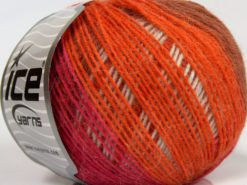 Lot of 8 Skeins Ice Yarns SALE LUXURY-PREMIUM (18% Angora 32% Wool) Yarn Pink Copper Orange Light Grey Beige