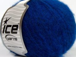 Lot of 8 Skeins Ice Yarns FLUFFY WOOL SUPERFINE (20% Wool 3% Elastan) Yarn Saxe Blue