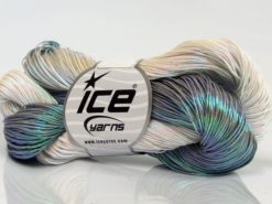 Lot of 3 x 100gr Skeins Ice Yarns HAND PAINTED COTTON (40% Cotton) Yarn Grey