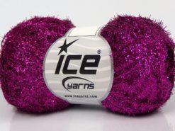 Lot of 10 Skeins Ice Yarns SALE METALLIC Hand Knitting Yarn Fuchsia