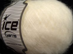 Lot of 8 Skeins Ice Yarns SALE WINTER (33% Wool) Hand Knitting Yarn Ecru