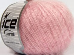 Lot of 8 Skeins Ice Yarns SALE PLAIN Hand Knitting Yarn Light Pink