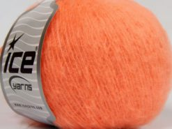 Lot of 8 Skeins Ice Yarns SALE PLAIN Hand Knitting Yarn Neon Orange