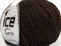 Lot of 8 Skeins Ice Yarns SALE PLAIN Hand Knitting Yarn Coffee Brown