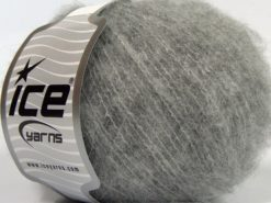 Lot of 8 Skeins Ice Yarns GARZATO COMFORT (2% Elastan) Hand Knitting Yarn Grey