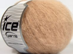 Lot of 8 Skeins Ice Yarns GARZATO COMFORT (2% Elastan) Yarn Dark Beige