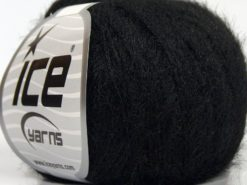 Lot of 8 Skeins Ice Yarns TECHNO FINE Hand Knitting Yarn Black