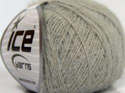 Lot of 8 Skeins Ice Yarns TECHNO FINE Hand Knitting Yarn Light Grey