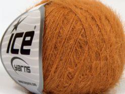Lot of 8 Skeins Ice Yarns TECHNO FINE Hand Knitting Yarn Dark Camel