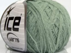 Lot of 8 Skeins Ice Yarns TECHNO FINE Hand Knitting Yarn Mint Green