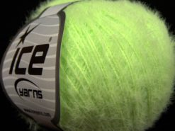 Lot of 8 Skeins Ice Yarns TECHNO FINE Hand Knitting Yarn Neon Green