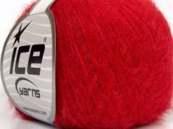 Lot of 8 Skeins Ice Yarns TECHNO FINE Hand Knitting Yarn Dark Red