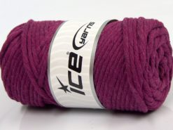 250 gr ICE YARNS NATURAL COTTON JUMBO (100% Cotton) Yarn Dark Fuchsia