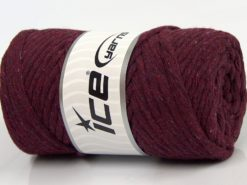 250 gr ICE YARNS NATURAL COTTON JUMBO (100% Cotton) Yarn Dark Maroon