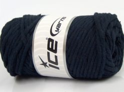 250 gr ICE YARNS NATURAL COTTON JUMBO (100% Cotton) Yarn Dark Navy