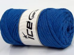 250 gr ICE YARNS NATURAL COTTON JUMBO (100% Cotton) Hand Knitting Yarn Blue