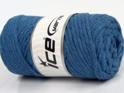 250 gr ICE YARNS NATURAL COTTON JUMBO (100% Cotton) Yarn Jeans Blue