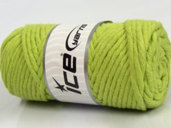 250 gr ICE YARNS NATURAL COTTON JUMBO (100% Cotton) Yarn Pistachio Green