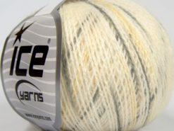 Lot of 8 Skeins Ice Yarns SALE WINTER (50% Wool) Yarn Cream Grey Light Yellow