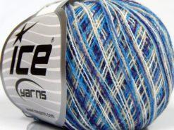 Lot of 10 Skeins Ice Yarns COLORWAY SUPERFINE Yarn Blue Purple White