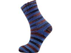 Lot of 2 x 100gr Skeins Ice Yarns HAND DYED SOCK MERINO (75% Superwash Merino Wool) Yarn Blue Shades Brown Shades