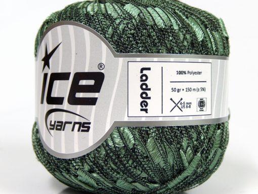 Lot of 6 Skeins Ice Yarns Trellis LADDER Hand Knitting Yarn Water Green