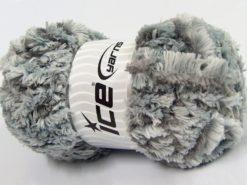 Lot of 4 x 100gr Skeins Ice Yarns PANDA DUO (100% MicroFiber) Yarn Grey Shades