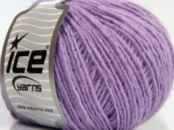 Lot of 8 Skeins Ice Yarns PERU ALPACA LIGHT (25% Alpaca 50% Merino Wool) Yarn Light Lilac