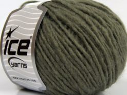 Lot of 8 Skeins Ice Yarns PERU ALPACA WORSTED (25% Alpaca 50% Merino Wool) Yarn Khaki
