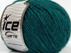 Lot of 8 Skeins Ice Yarns PERU ALPACA WORSTED (25% Alpaca 50% Merino Wool) Yarn Emerald Green