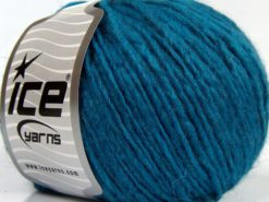 Lot of 8 Skeins Ice Yarns PERU ALPACA WORSTED (25% Alpaca 50% Merino Wool) Yarn Turquoise