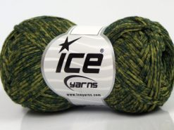 Lot of 8 Skeins Ice Yarns GRAPHITE COTTON (72% Cotton) Yarn Green Shades