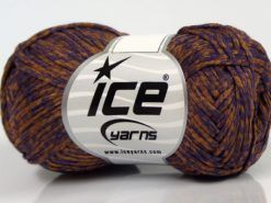 Lot of 8 Skeins Ice Yarns GRAPHITE COTTON (72% Cotton) Yarn Bronze Purple