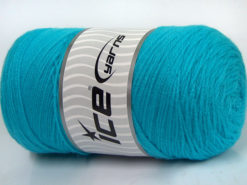350 gr ICE YARNS SALE PLAIN Hand Knitting Yarn Turquoise