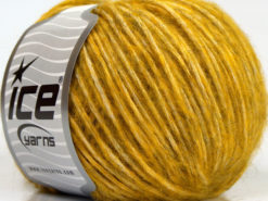 Lot of 8 Skeins Ice Yarns ALPACA COTTON (22% Alpaca Superfine 14% Wool) Yarn Gold
