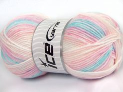 Lot of 4 x 100gr Skeins Ice Yarns HAPPY BABY Yarn Pink Shades Turquoise