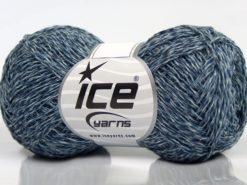 Lot of 8 Skeins Ice Yarns DENIM FINE (100% Cotton) Yarn Blue Shades