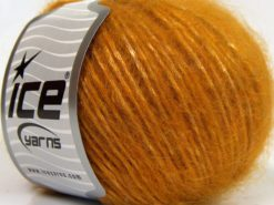 Lot of 8 Skeins Ice Yarns KID MOHAIR MERINO (20% Kid Mohair 24% Merino Wool) Yarn Gold