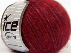 Lot of 8 Skeins Ice Yarns KID MOHAIR MERINO (20% Kid Mohair 24% Merino Wool) Yarn Burgundy