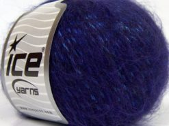 Lot of 8 Skeins Ice Yarns KID MOHAIR MERINO (20% Kid Mohair 24% Merino Wool) Yarn Dark Purple