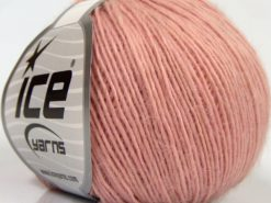 Lot of 8 Skeins Ice Yarns PURE WOOL LIGHT (100% Wool) Yarn Light Pink