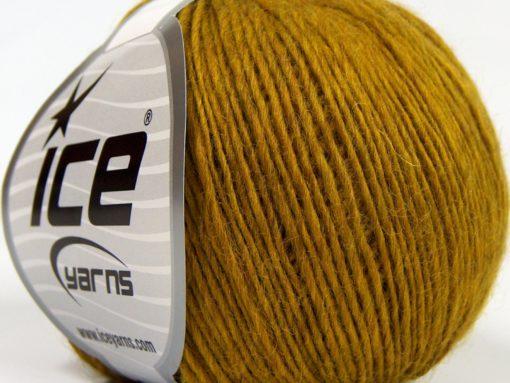 Lot of 8 Skeins Ice Yarns PURE WOOL LIGHT (100% Wool) Yarn Olive Green