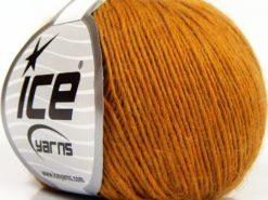 Lot of 8 Skeins Ice Yarns PURE WOOL LIGHT (100% Wool) Hand Knitting Yarn Gold