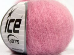 Lot of 6 Skeins Ice Yarns SUPERKID MOHAIR (31% Superwash Extrafine Merino Wool) Yarn Pink