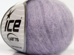 Lot of 6 Skeins Ice Yarns SUPERKID MOHAIR (47% SuperKid Mohair 31% Superwash Extrafine Merino Wool) Yarn Light Lilac