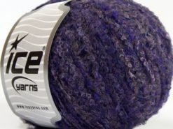 Lot of 8 Skeins Ice Yarns ALPACA BOUCLE FINE (25% Alpaca 25% Wool) Yarn Purple Shades