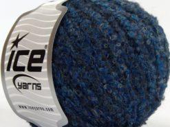 Lot of 8 Skeins Ice Yarns ALPACA BOUCLE FINE (25% Alpaca 25% Wool) Yarn Blue Turquoise Navy
