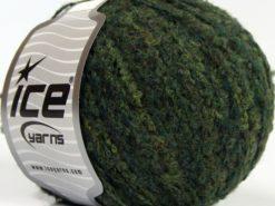 Lot of 8 Skeins Ice Yarns ALPACA BOUCLE FINE (25% Alpaca 25% Wool) Yarn Jungle Green Shades