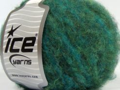 Lot of 8 Skeins Ice Yarns JAGUAR ALPACA (16% Alpaca 24% Wool) Yarn Green Shades Turquoise