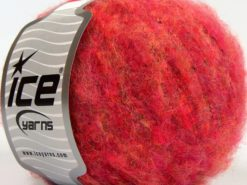 Lot of 8 Skeins Ice Yarns JAGUAR ALPACA (16% Alpaca 24% Wool) Yarn Pink Shades
